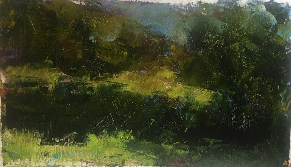 Shady Meadow, Oil, 13x10