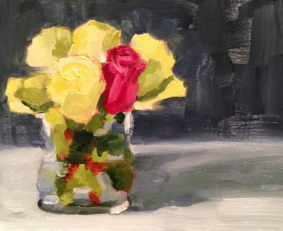 Graduation Roses, Oil, 8x10, SOLD