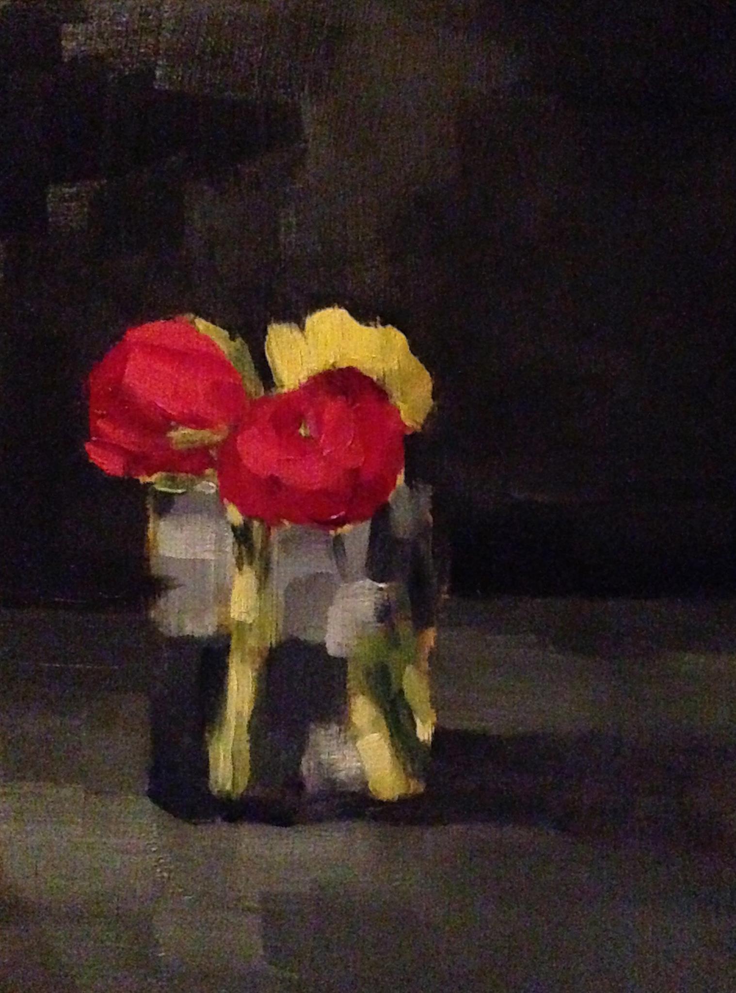 Petit Flowers, Oil on Board, 6x8, SOLD
