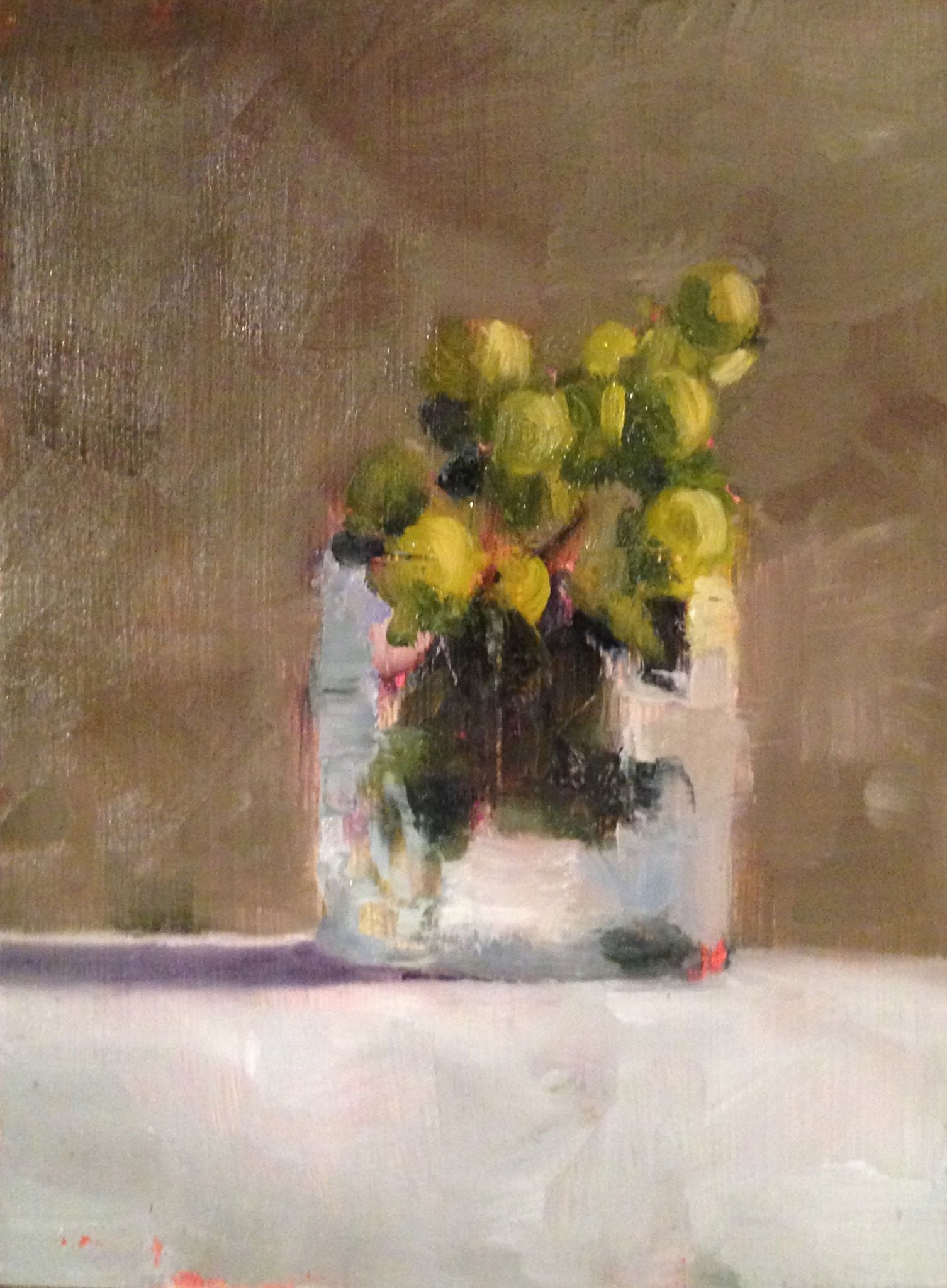 Berry Bouquet, Oil on Board, 5x7, SOLD