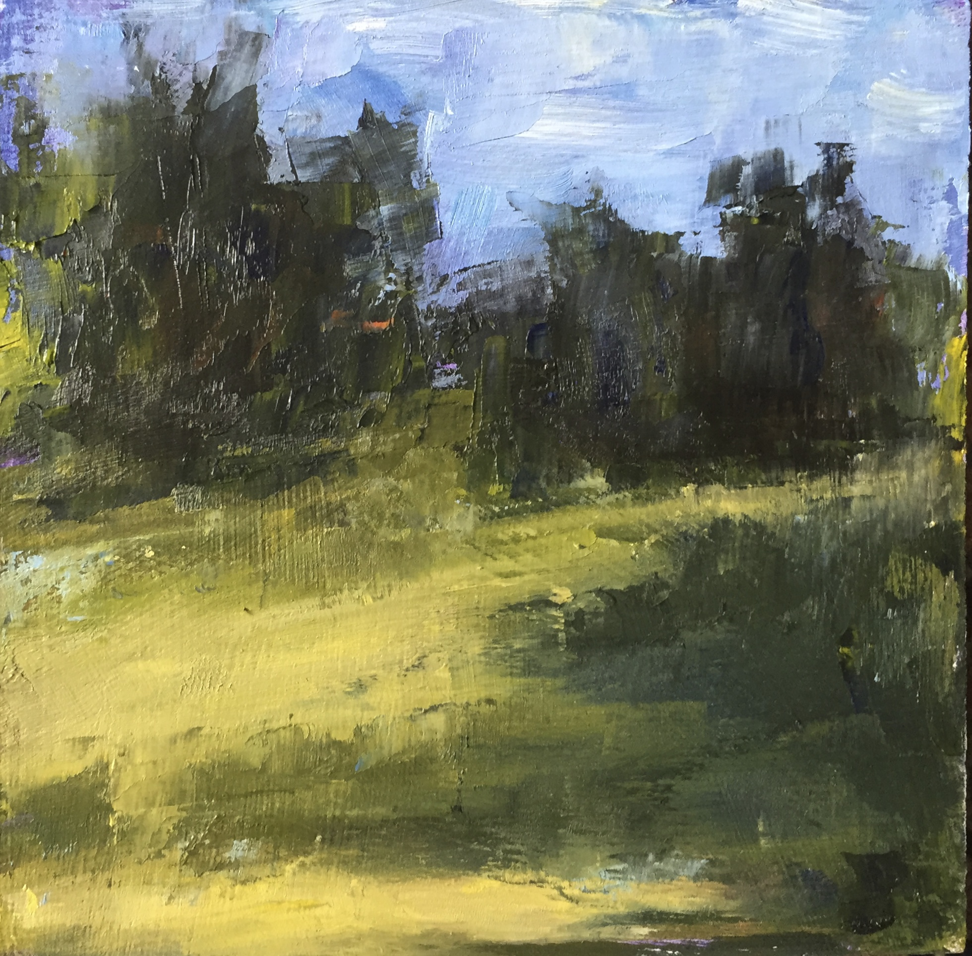 Late Summer Afternoon, Oil on Panel, 6x6