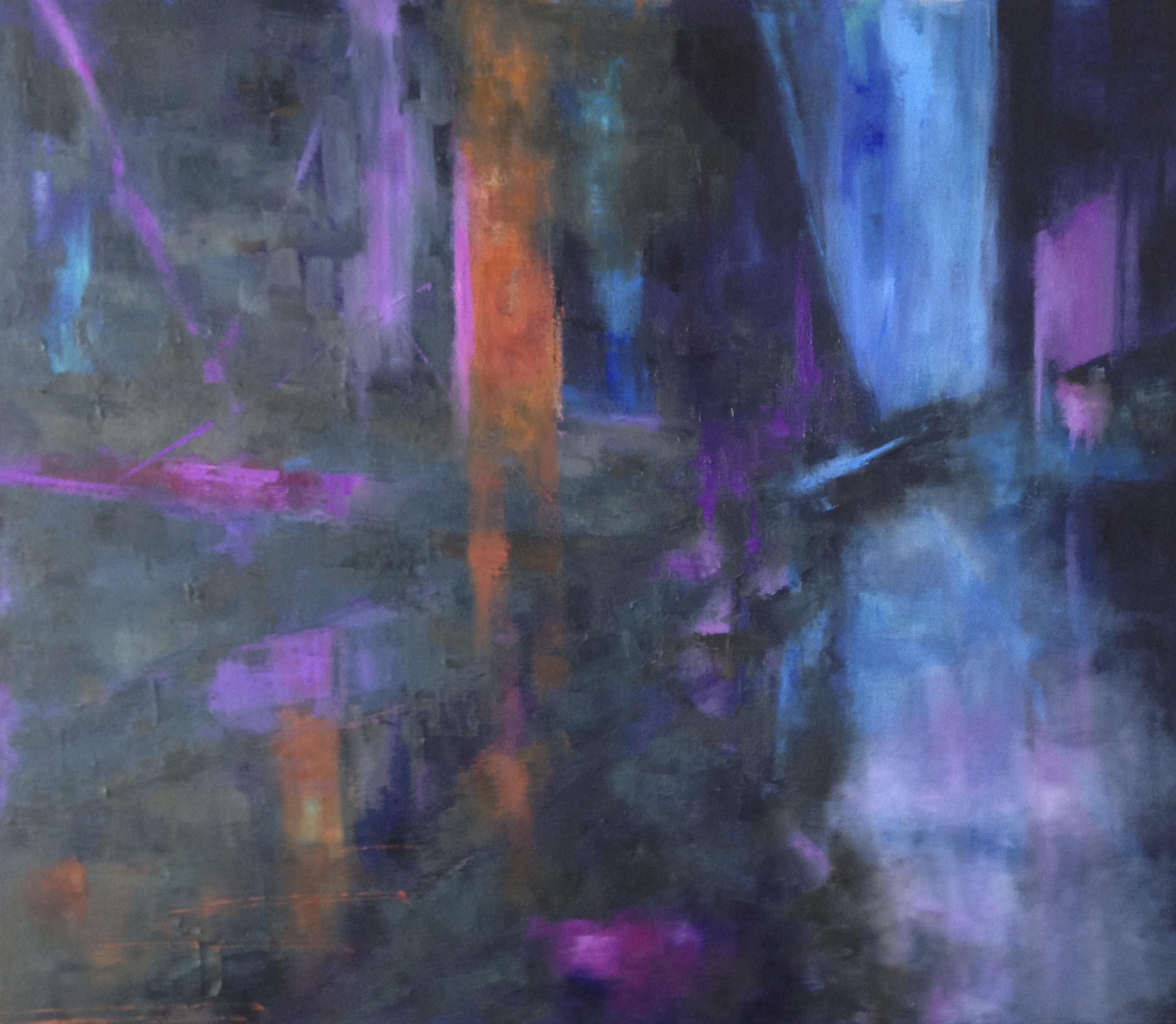 Tokyo Nights, Oil on Canvas, 36x30