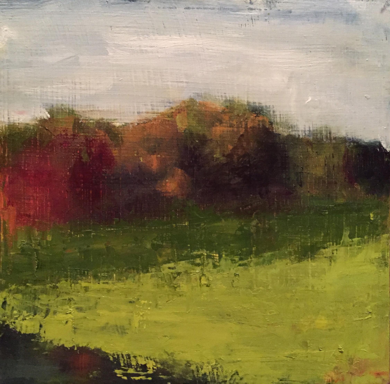 Winterthur, Oil on Panel, 8x8