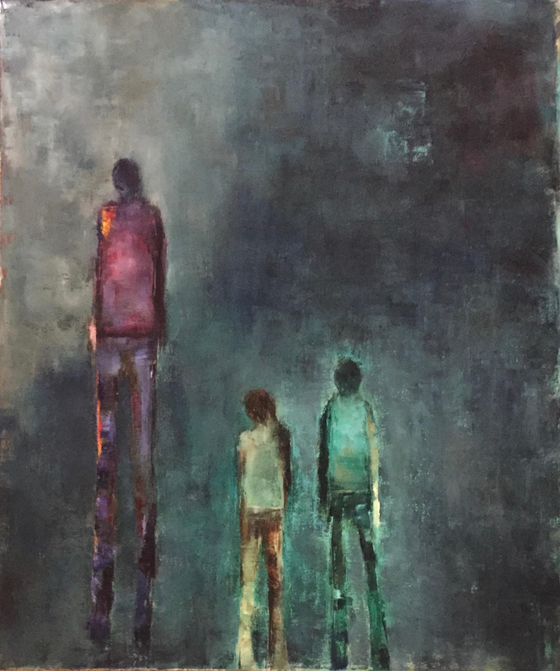 "Walking Away, Oil on Canvas, 36""x30"""