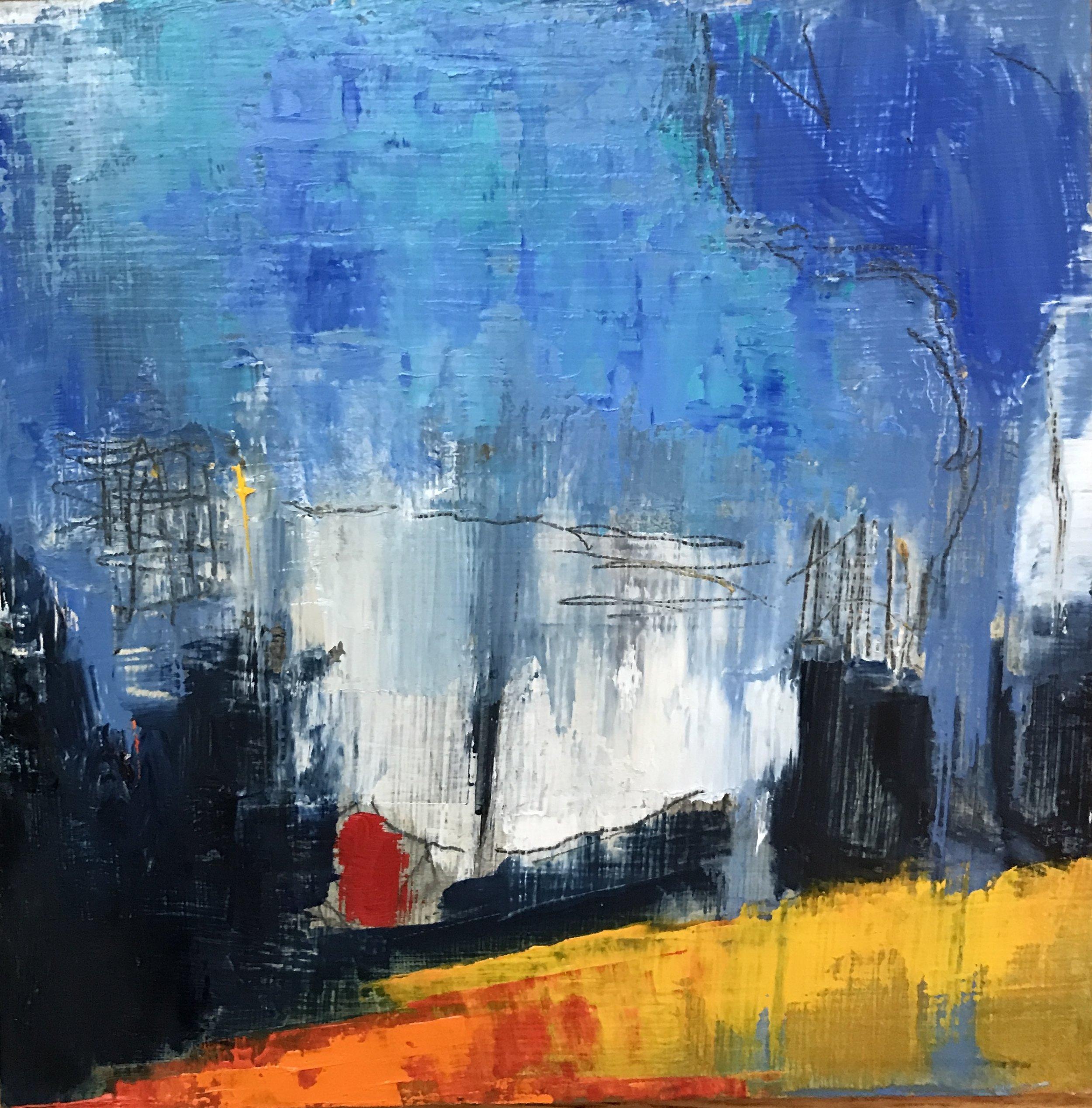 Beneath the Surface, Oil on Panel, 6x6