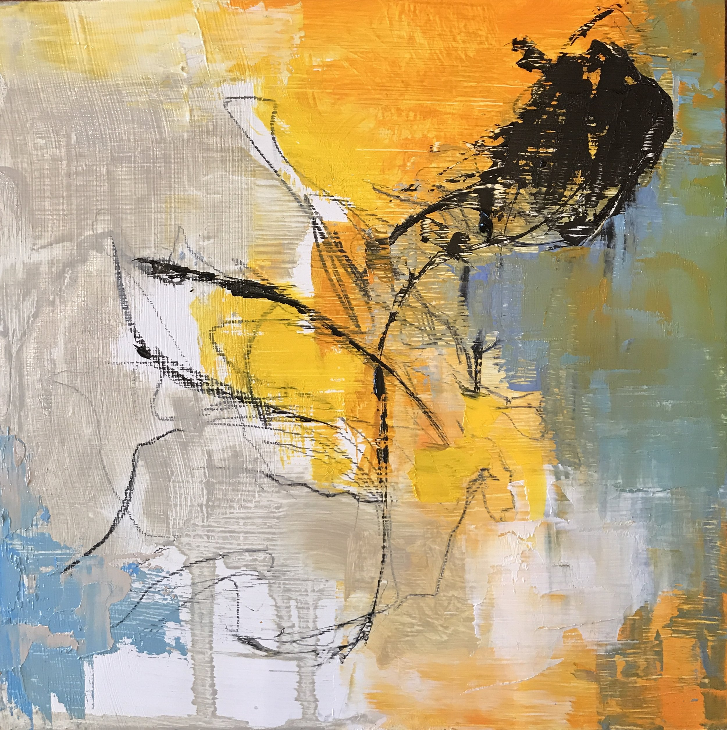 Elusive, Oil on Panel, 6x6, SOLD