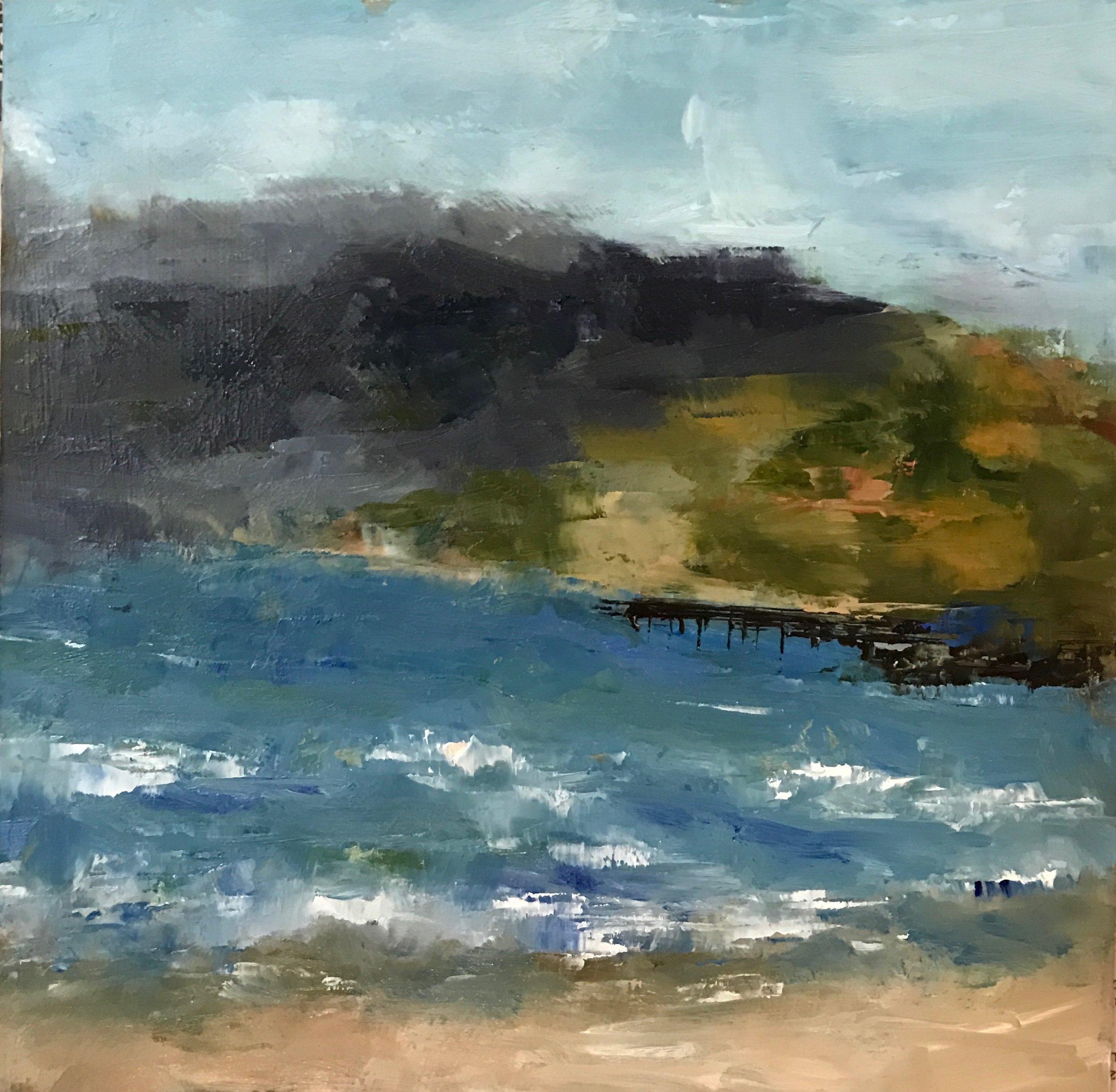Santa Monica, CA, Oil on Panel, 8x8