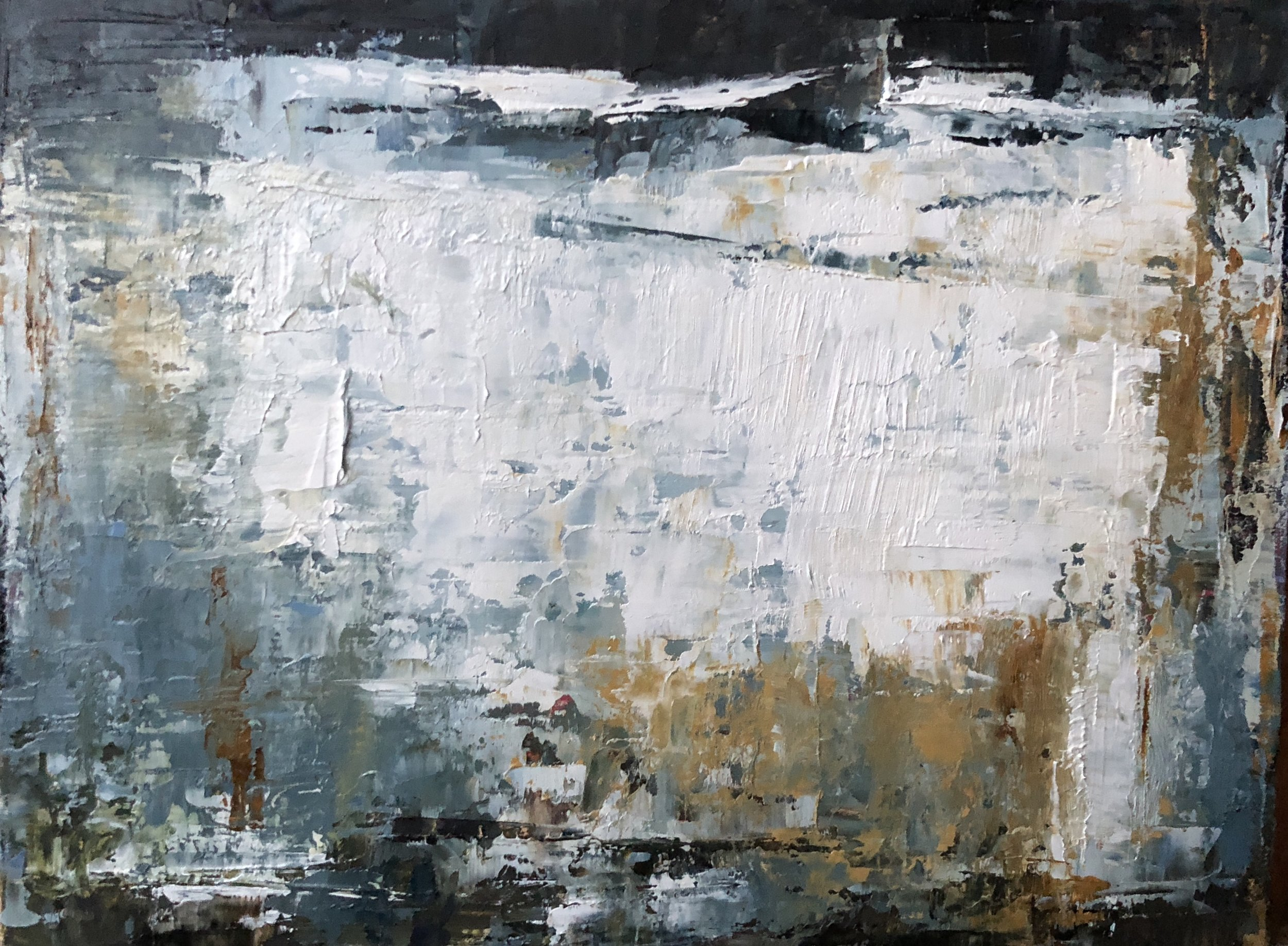 """Whitewashed, Oil on Board, 6""""x8"""", SOLD"""