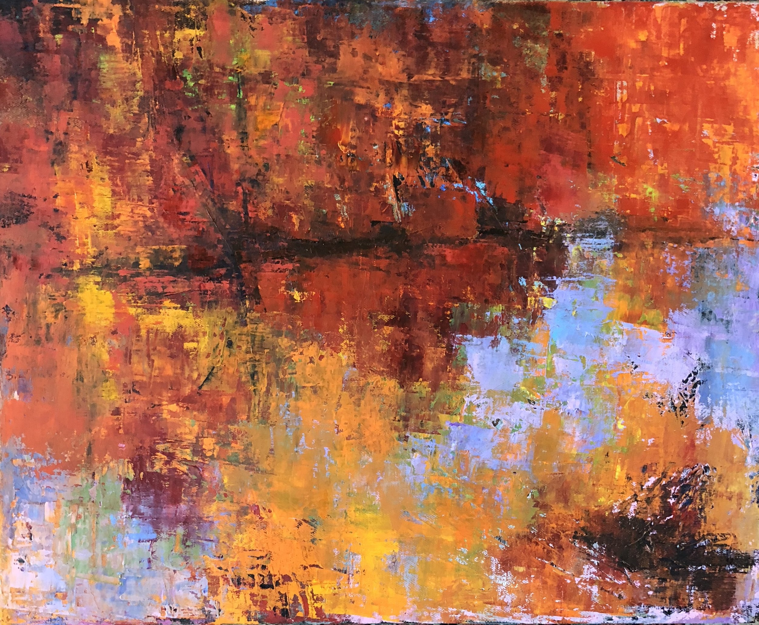 """Autumn Reflections, Oil on Canvas, 16""""x20"""""""