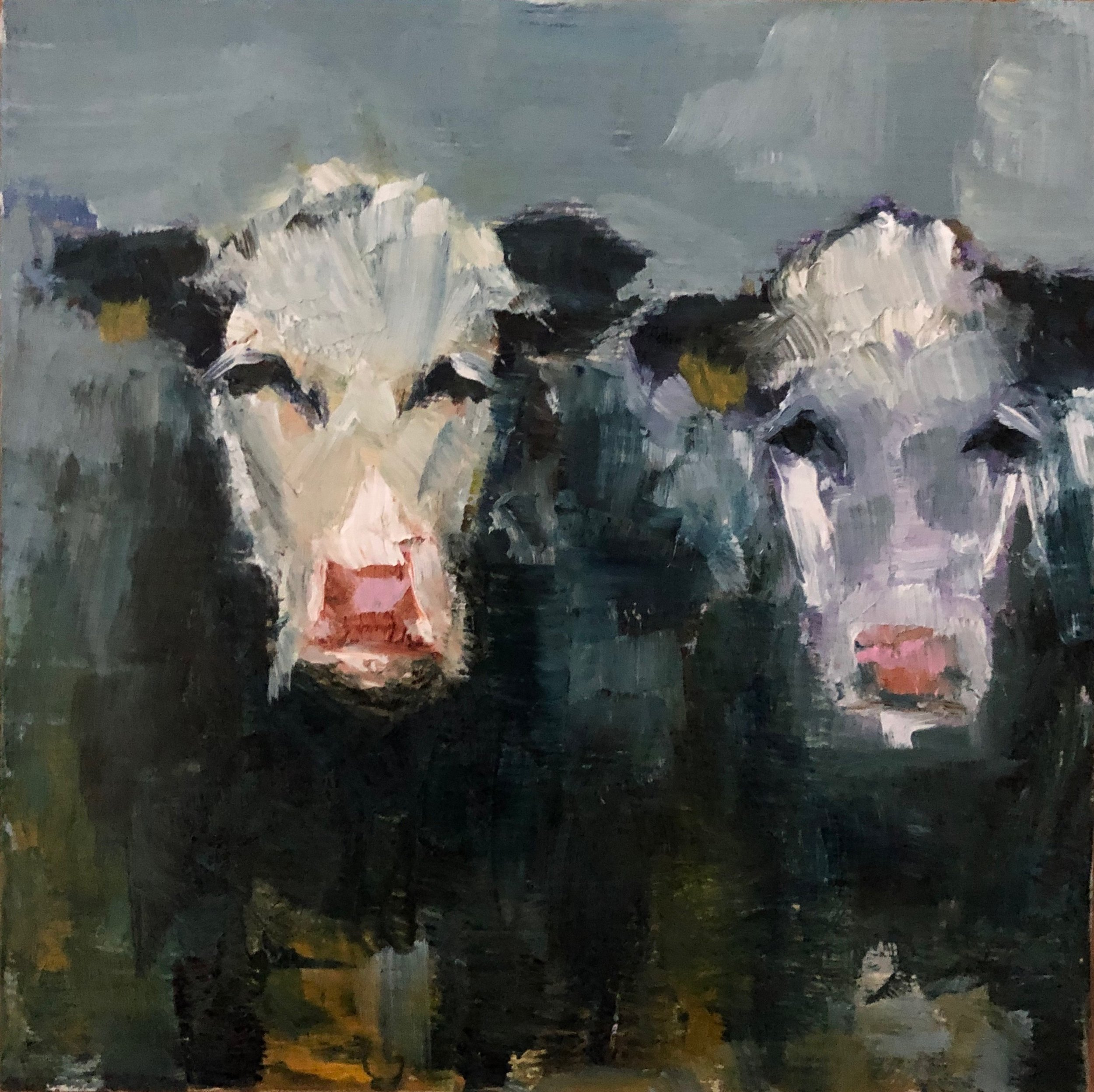 """Double Trouble, Oil on Panel, 6""""x6"""""""