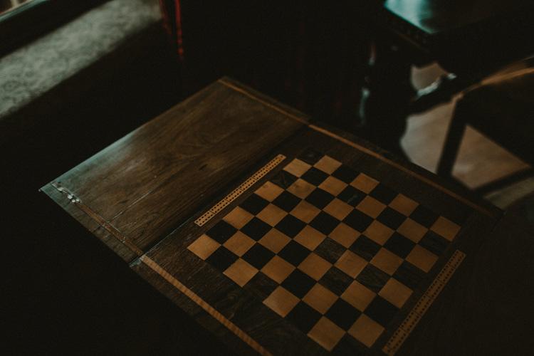 vintage chess board a quex park
