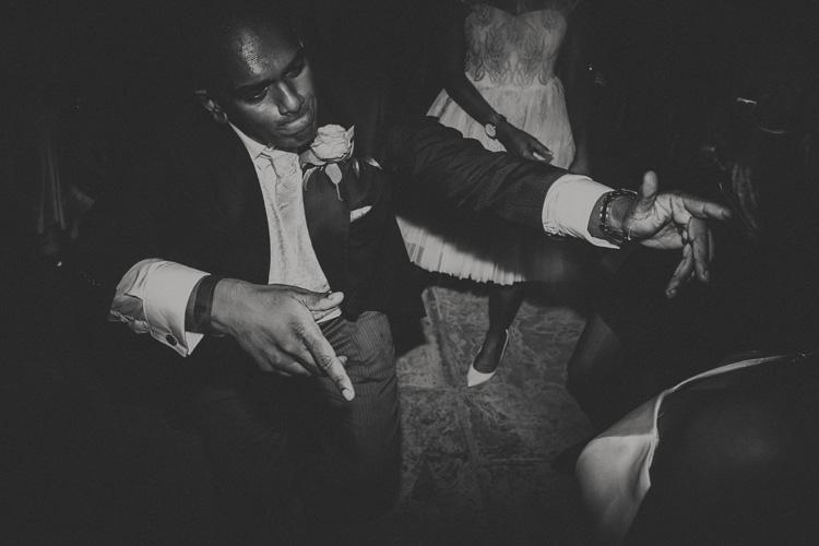 groom dancing at syon park wedding reception