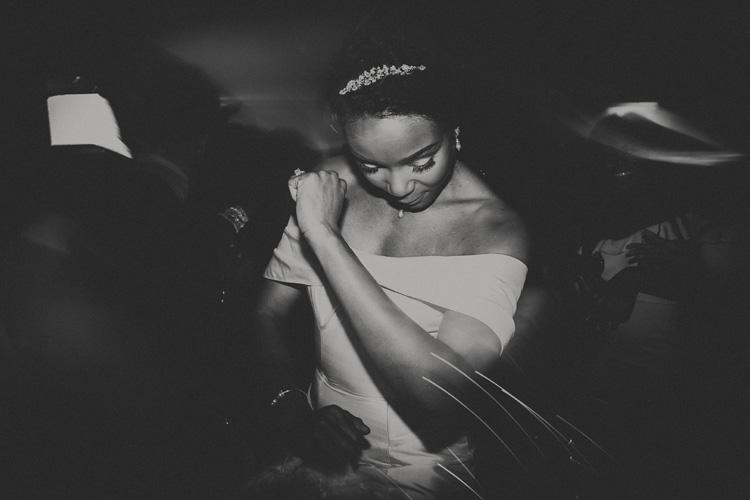 black bride dances at froyle park wedding ceremony