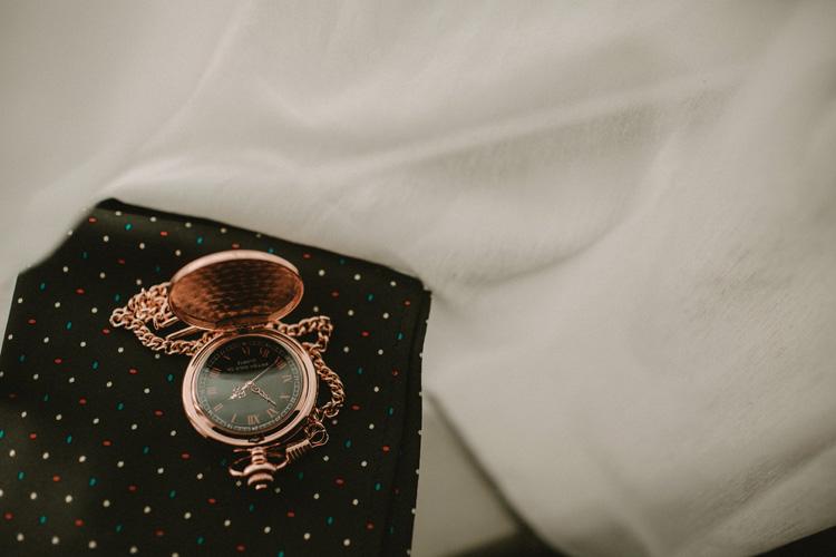 grooms pocket watch at froyle park wedding