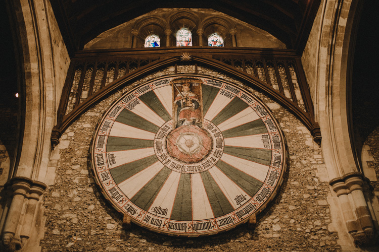 king arthurs round table in the great hall wedding