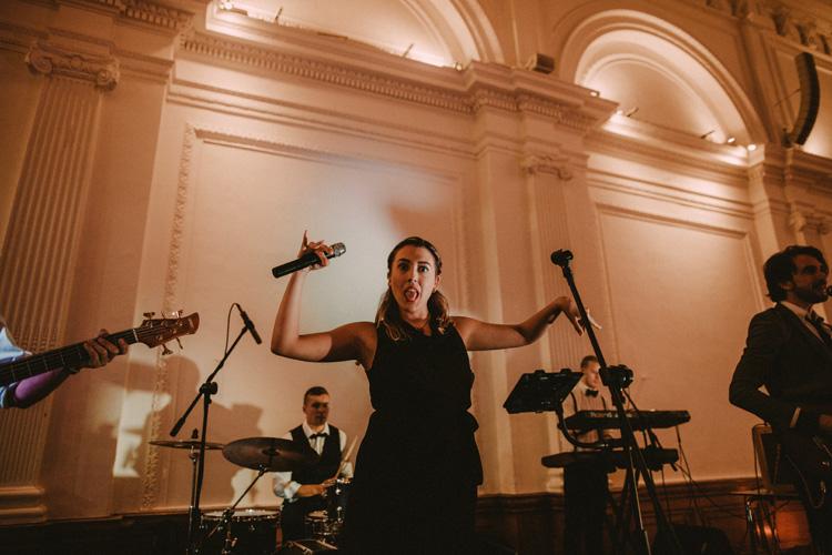singer during london hindu wedding reception