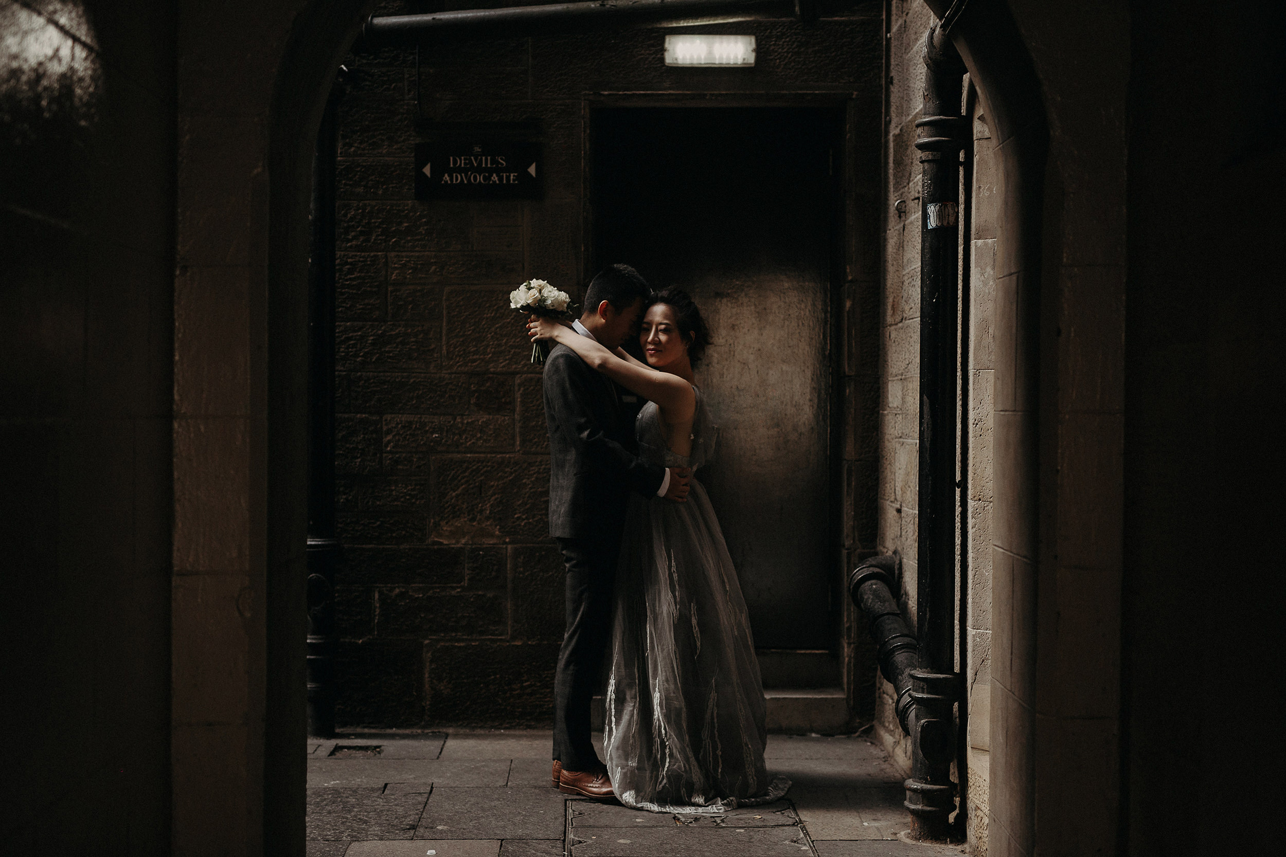 alternative wedding photographer in edinburgh