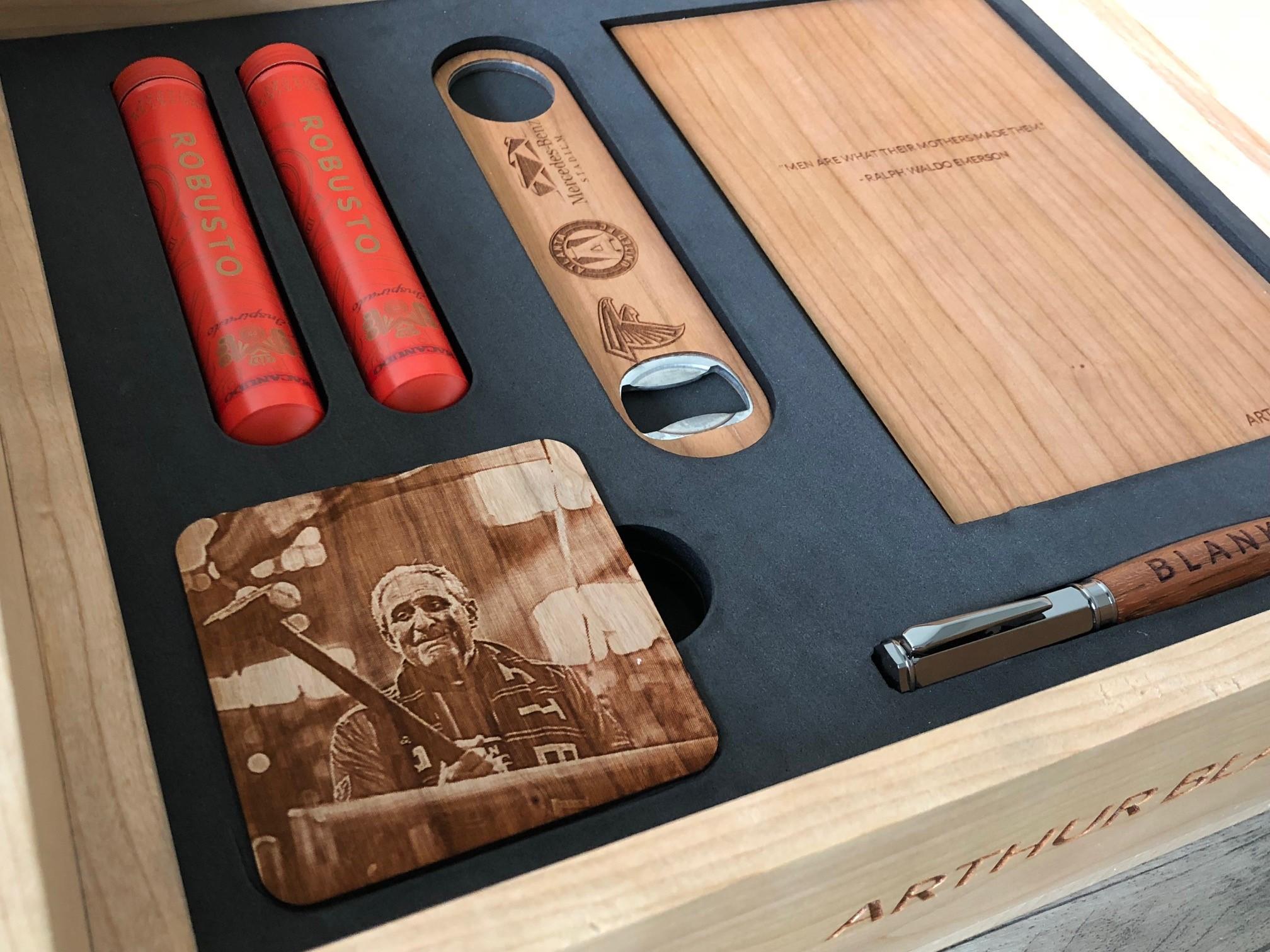 Cigars, Pen, Journal, Coasters & Bottle Opener Box