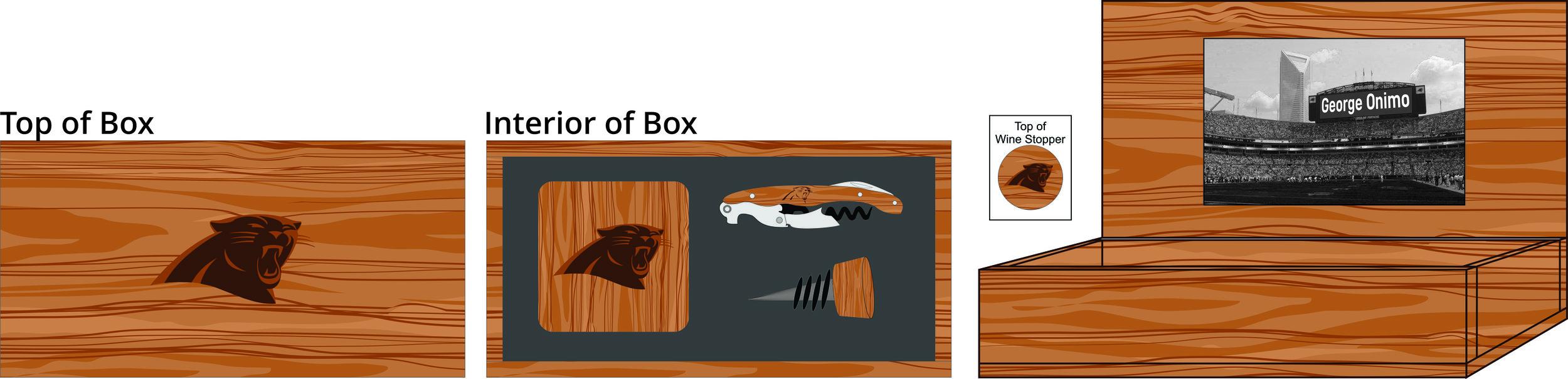 Hardwood Coasters, Wine Stopper & Wine Key Box