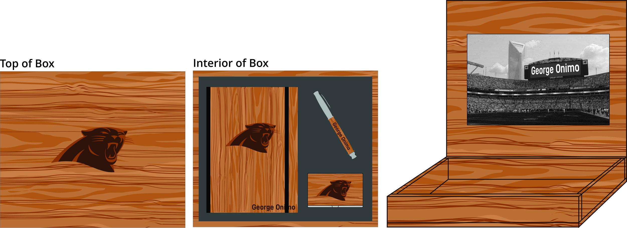 Hardwood Journal, Pen & Card Holder Box