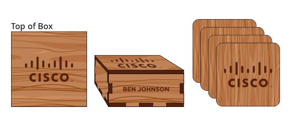 Veneer Coaster Box