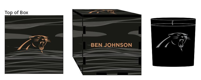 Veneer Black Candle Box