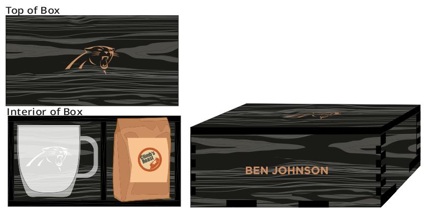 Veneer Coffee Box (Glass Mug and Climbs Roast Coffee)