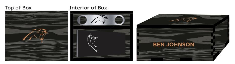 Veneer Metal Pint Glass & Bottle Opener Box
