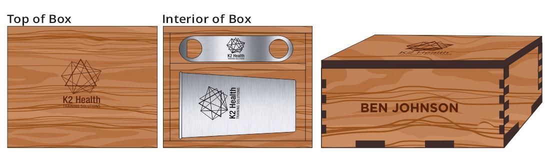 Metal Pint Glass & Bottle Opener Box