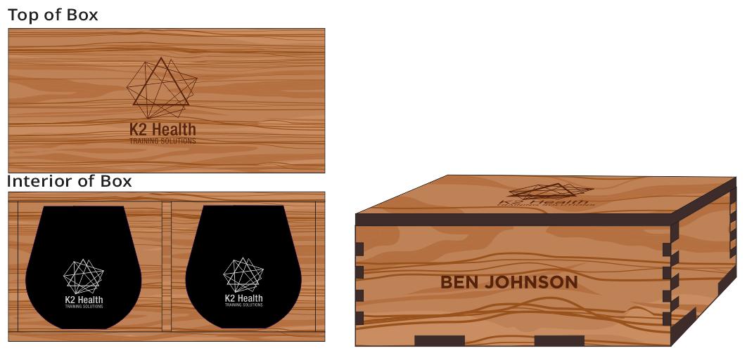 Veneer Wine Glass (2) Box