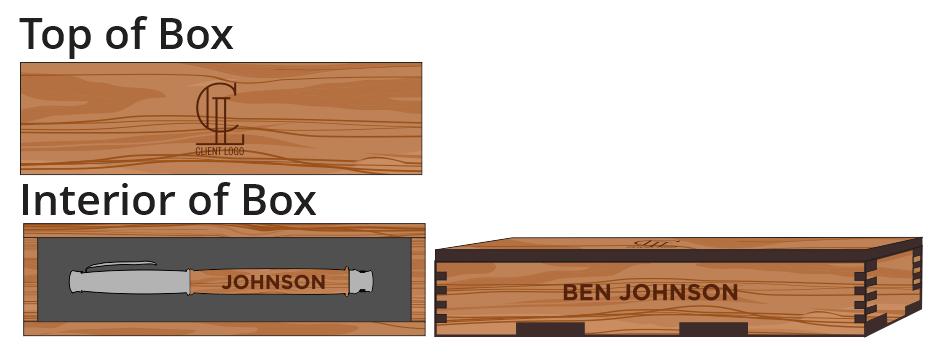 Veneer Pen Box