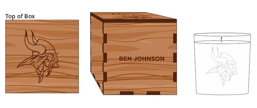 Veneer Candle Box