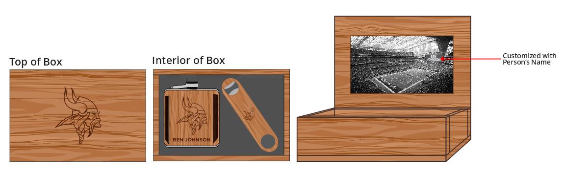 Hardwood Flask & Bottle Opener Box