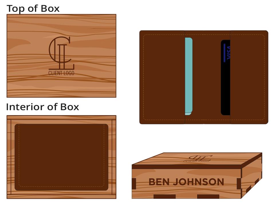 Veneer Leather Wallet Box