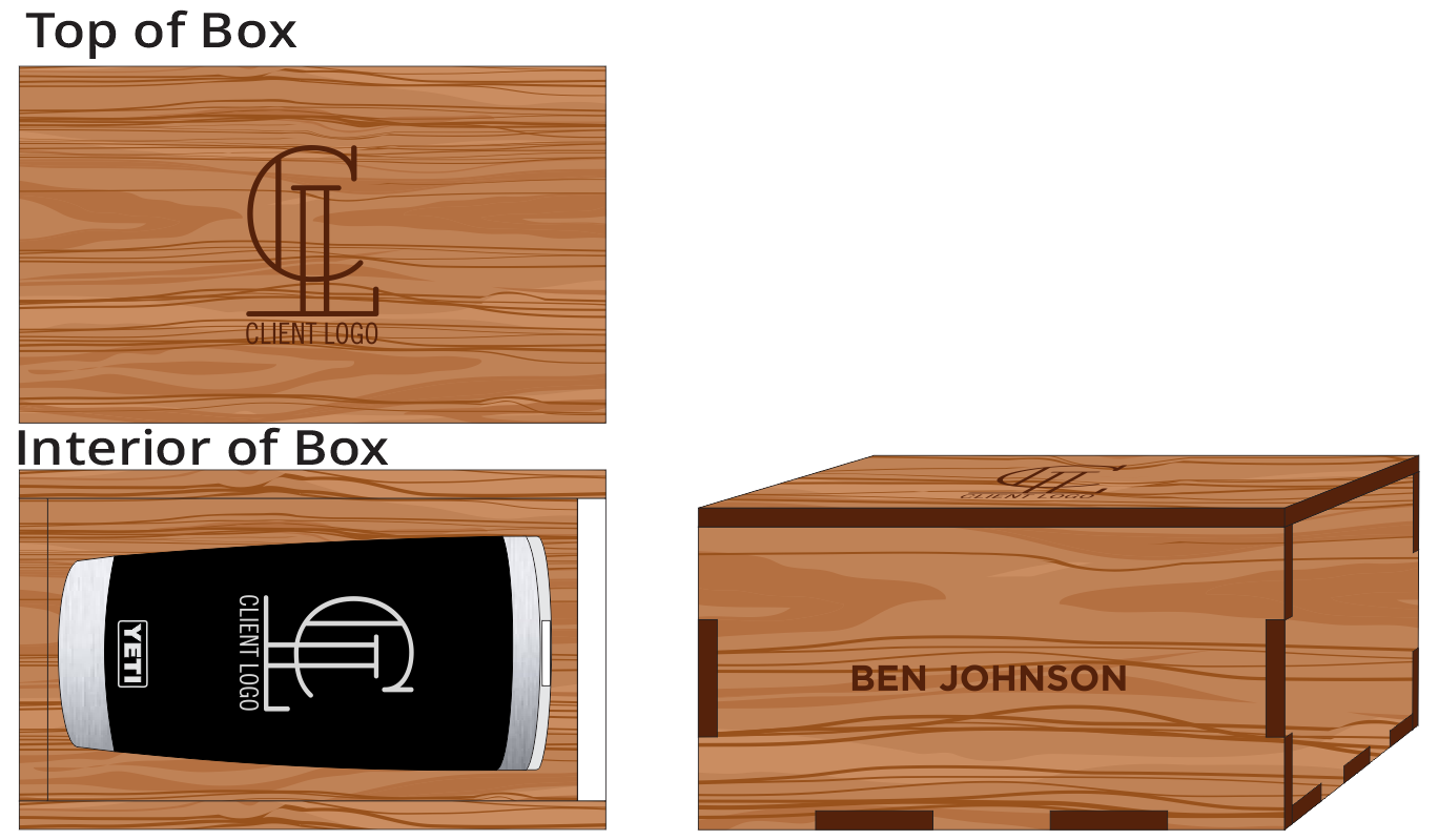 Veneer 20oz Black Yeti Box