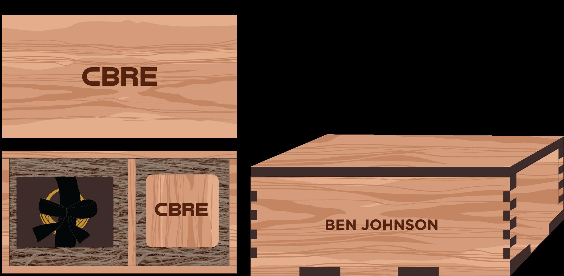 Veneer Chocolate and Wooden Coasters Box: $50