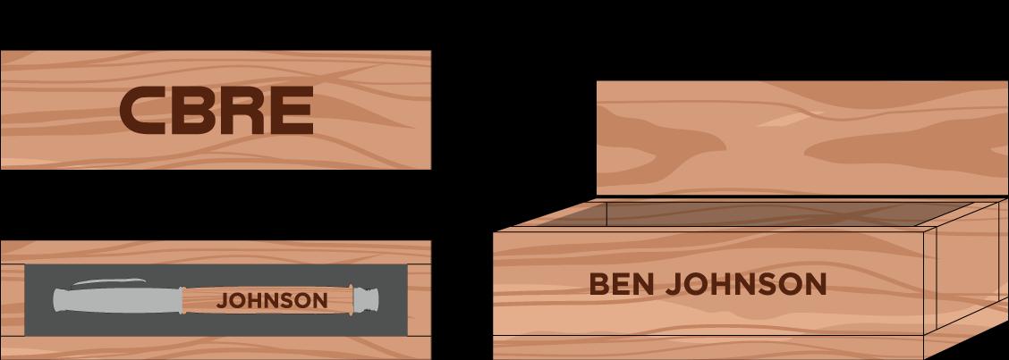 Hardwood Executive Pen Box: $100