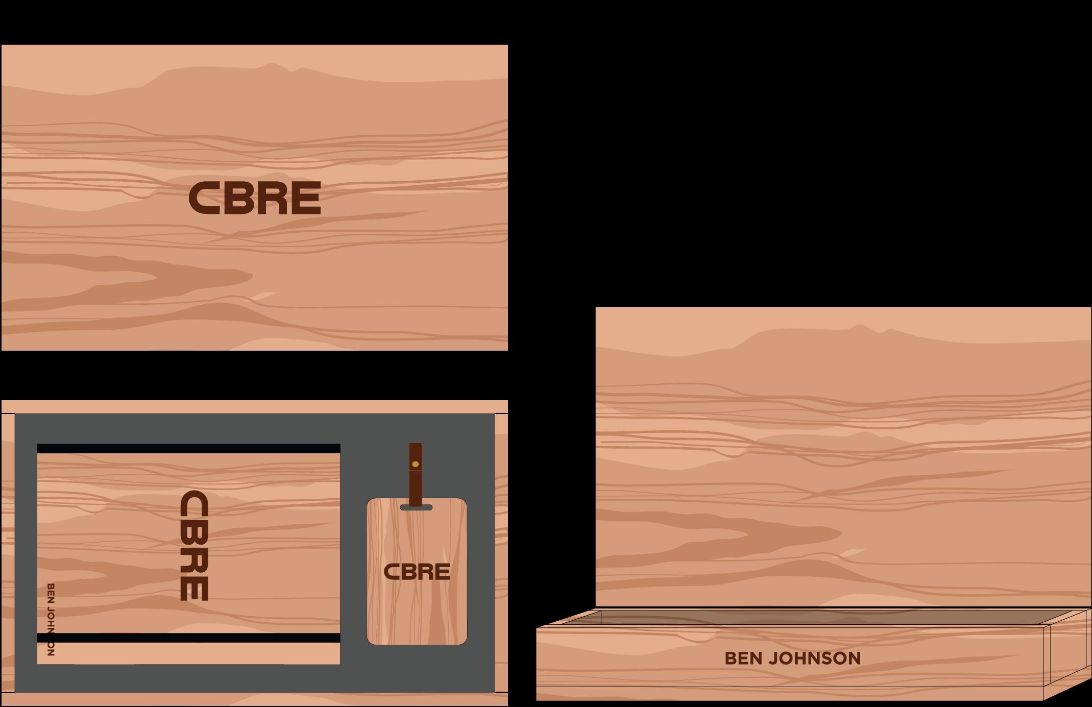 Hardwood Journal and Luggage Tag Box: $125