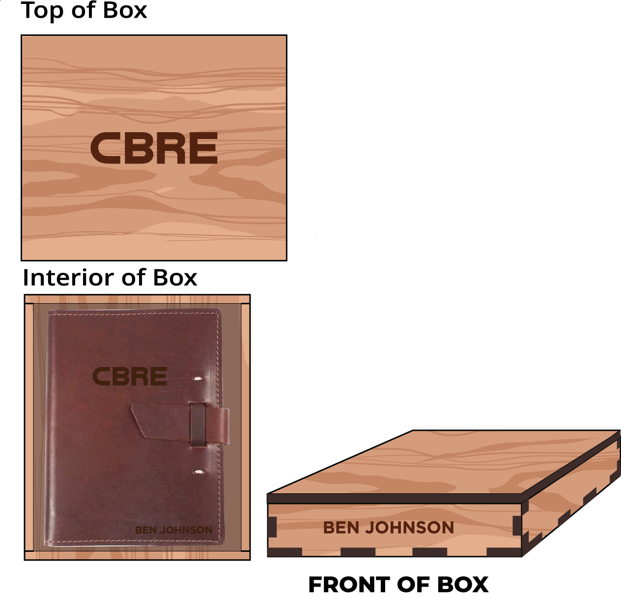 Veneer Leather Journal Box: $85