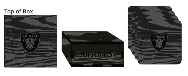 Veneer Coaster Box - $50