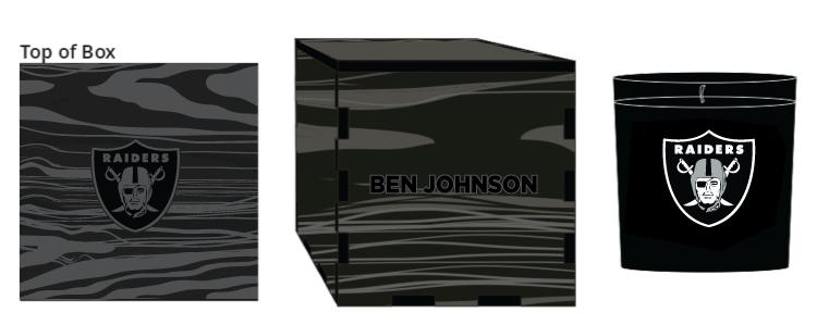 Veneer Black Candle Box - $50