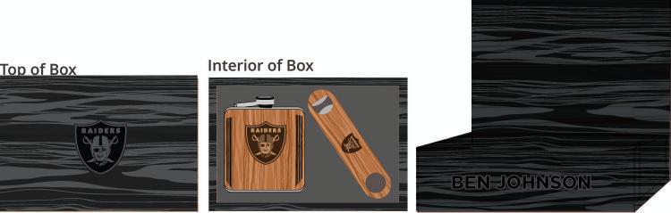 Hardwood Bottle Opener & Flask Box - $115