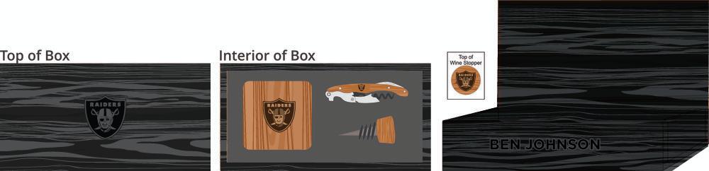 Hardwood Coasters, Wine Stopper & Wine Key Box - $150