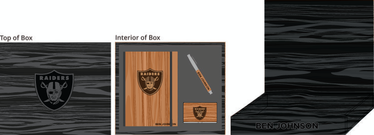 Hardwood Journal, Pen & Card Holder Box - $200