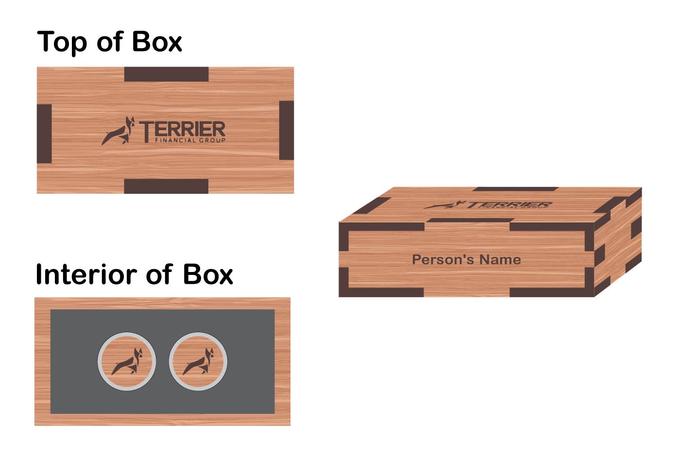 Box with cufflinks - $50