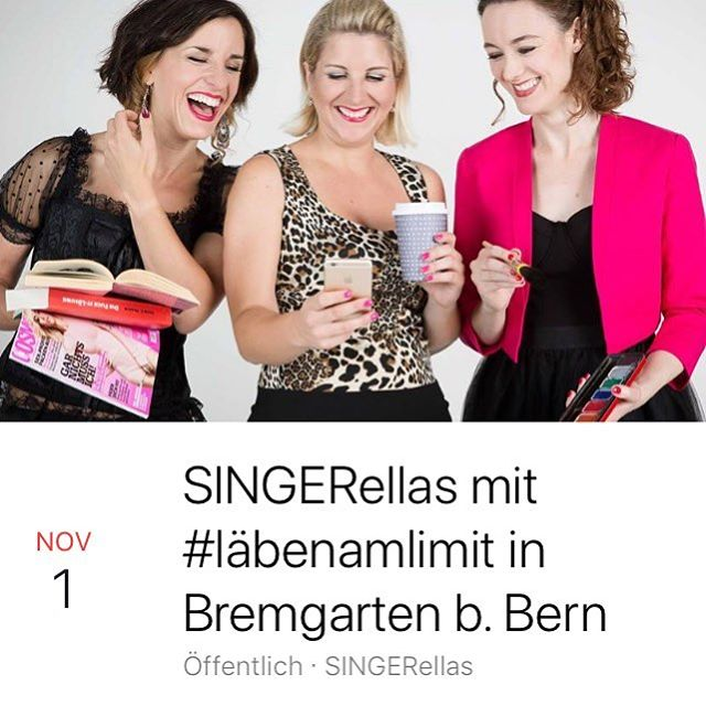 Mir spiele morn - aso eigentlech hüt! - am Do, 1.11., im Schueuhuus wo d'Linda i di 1. u 2 Klass gange isch. Ob sie äch geng brav het ufpasst? Erfahret der live! Chömet cho luege! @lindatralalaa #sträber #singerellas #uftritt #schwizerdütschsmusigkabarett #bremgarten #bern
