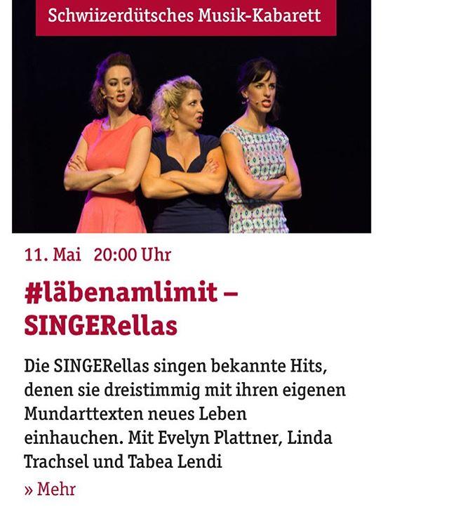 Mir spiele gli wieder z'Bärn im @theater_am_kaefigturm 🥳💃🏼 🎟 Link für Tickets in Bio  #singerellas #läbenamlimit #showtime #auftritt #bern #kultur #bühne #sängerinnen #comedy #gesang