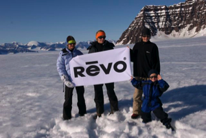 Celebrating with REVO, our main sponsor.
