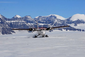 The Twin Otter arriving with the rest of our team.