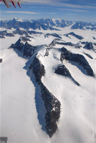 Mountains in the Watkins range where Gunnbjornsfjeld (GBF) is situated.